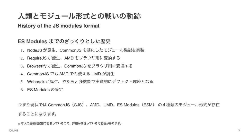 ES Modules ·Ͱͷͬ͘͟Γͱͨ͠ྺ History of the JS modul...