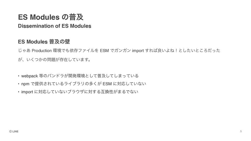 ES Modules ීٴͷน Dissemination of ES Modules ES...