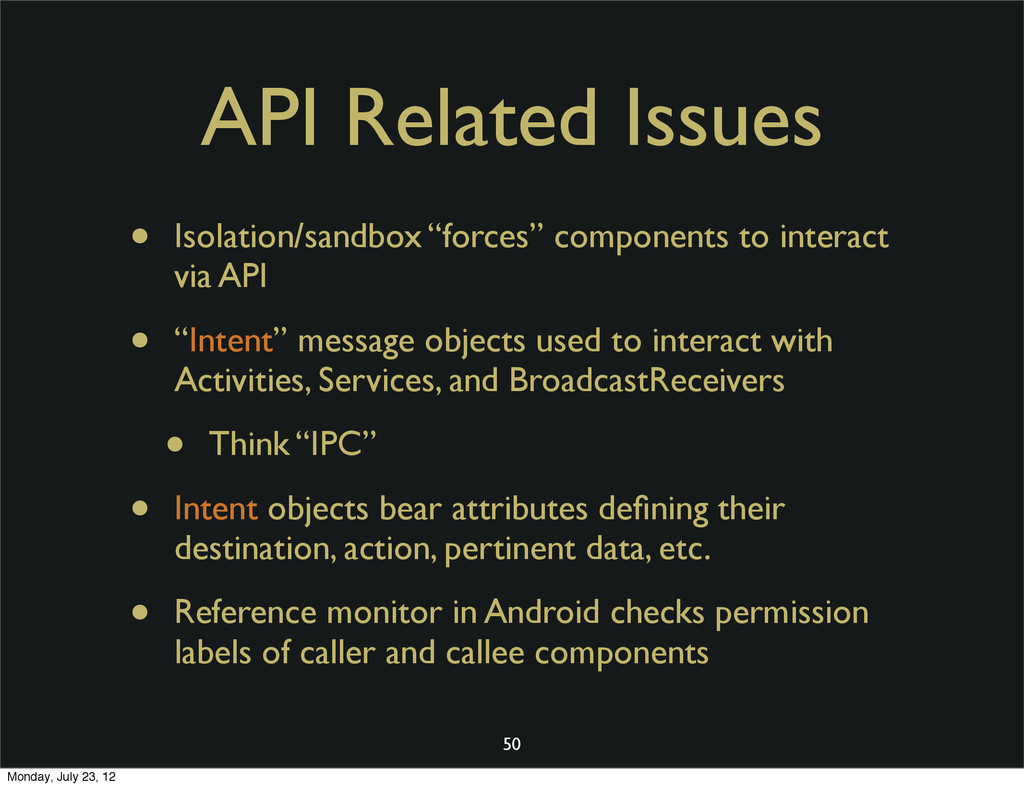 "API Related Issues • Isolation/sandbox ""forces""..."