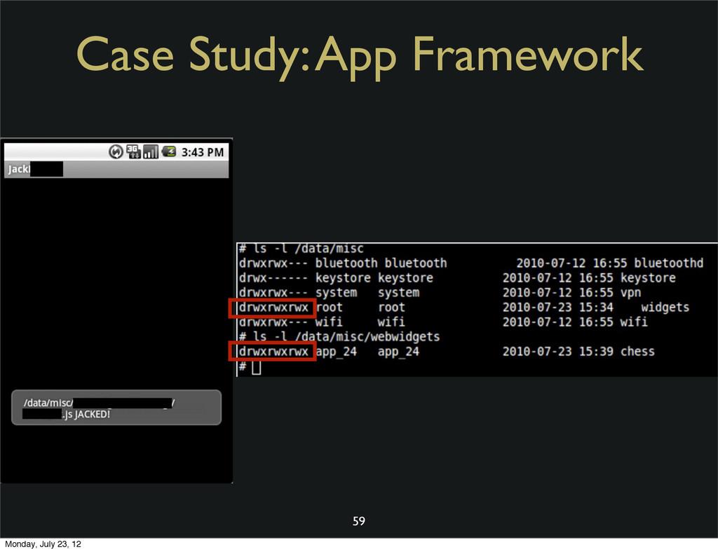 Case Study: App Framework 59 Monday, July 23, 12
