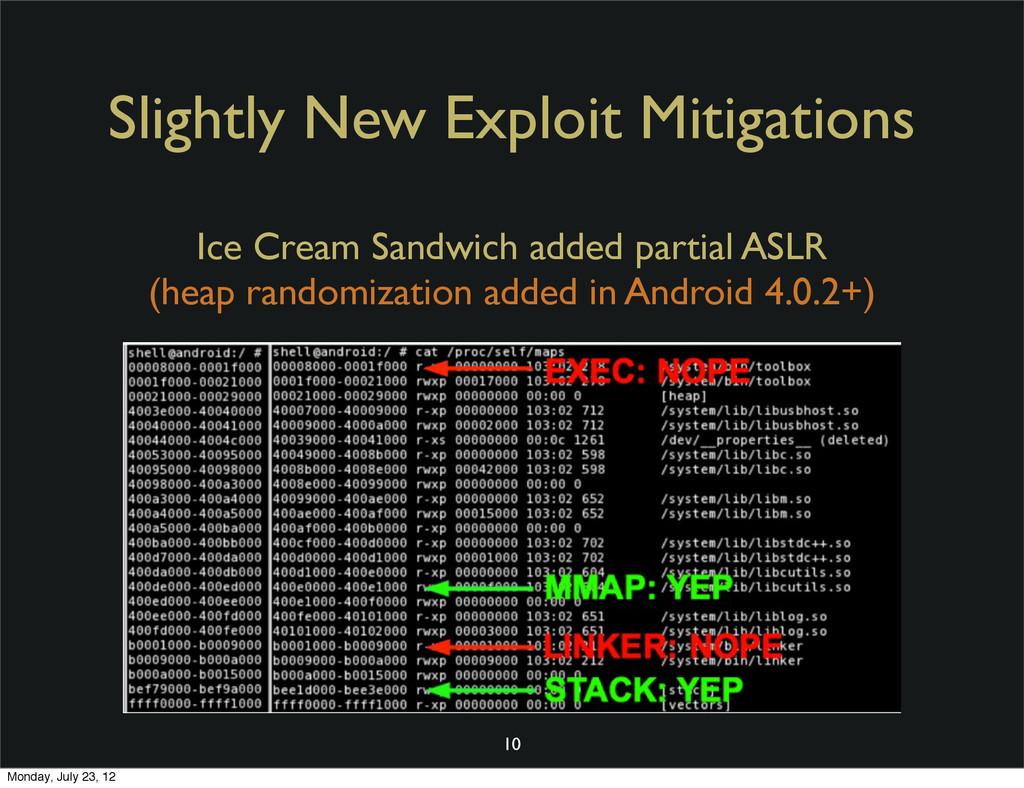 Slightly New Exploit Mitigations 10 Ice Cream S...