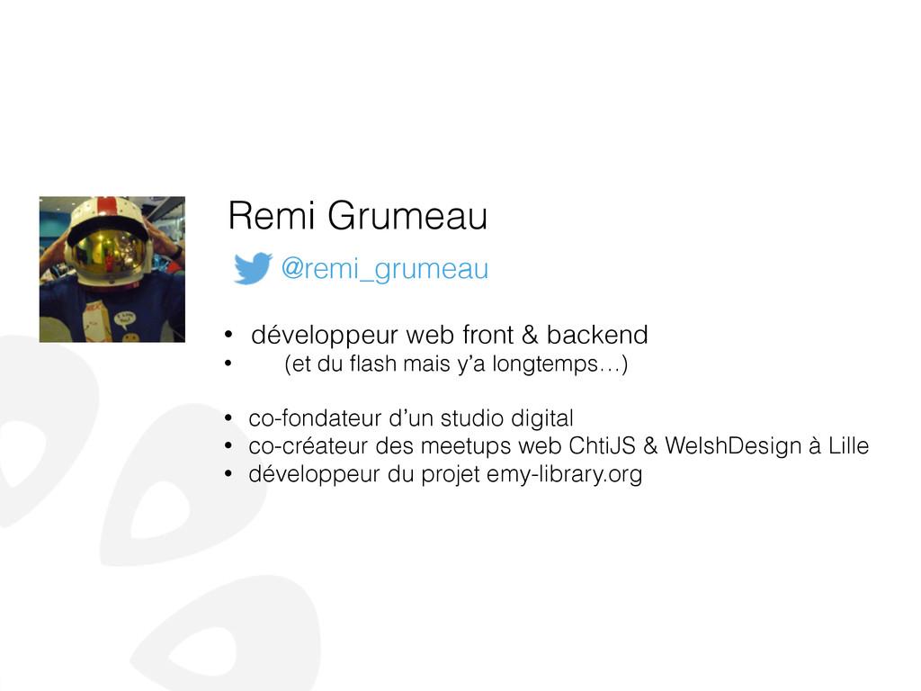 Remi Grumeau • développeur web front & backend ...