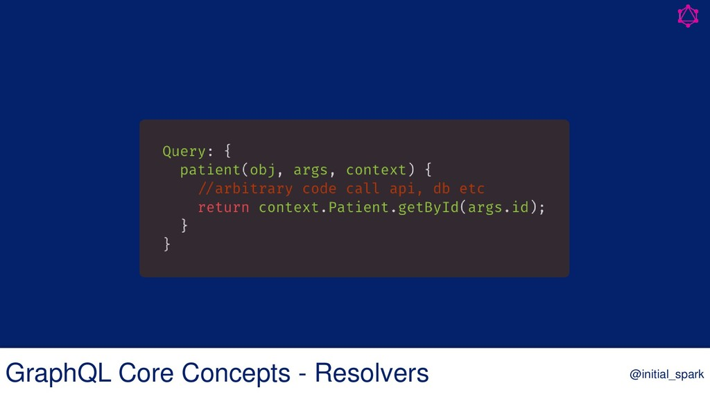 GraphQL Core Concepts - Resolvers @initial_spark