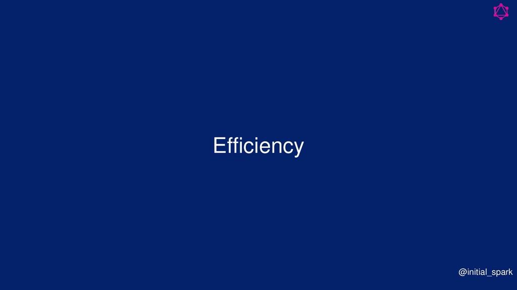 Efficiency @initial_spark