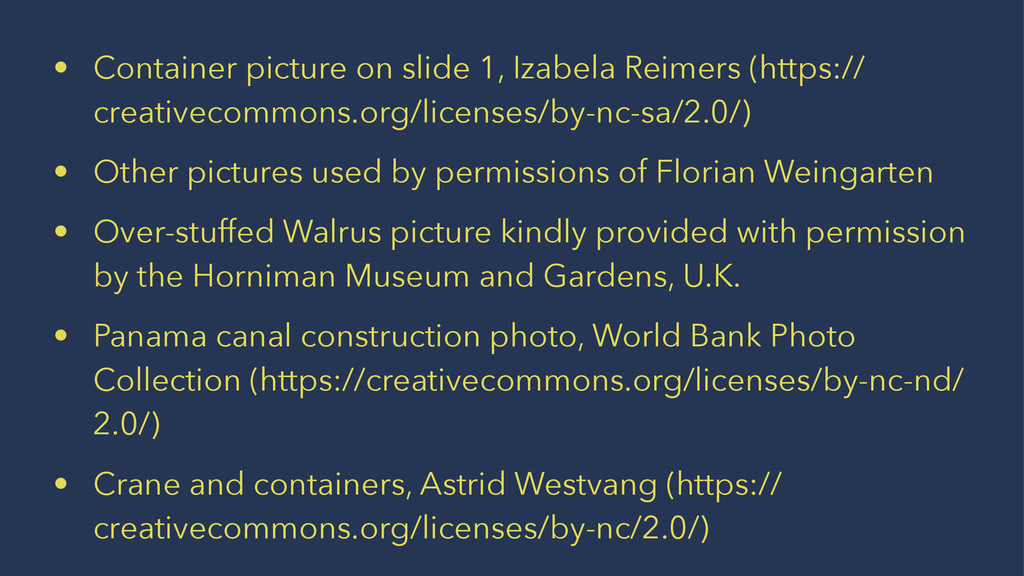 • Container picture on slide 1, Izabela Reimers...