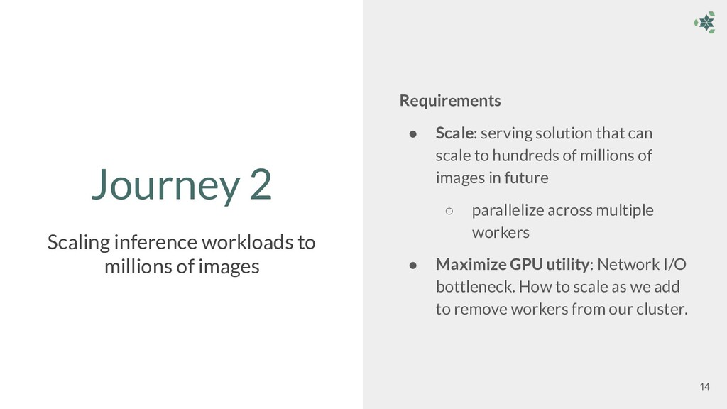 Journey 2 Requirements ● Scale: serving solutio...