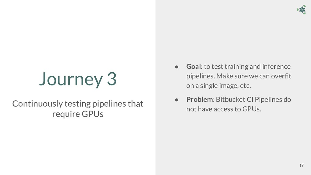 Journey 3 ● Goal: to test training and inferenc...