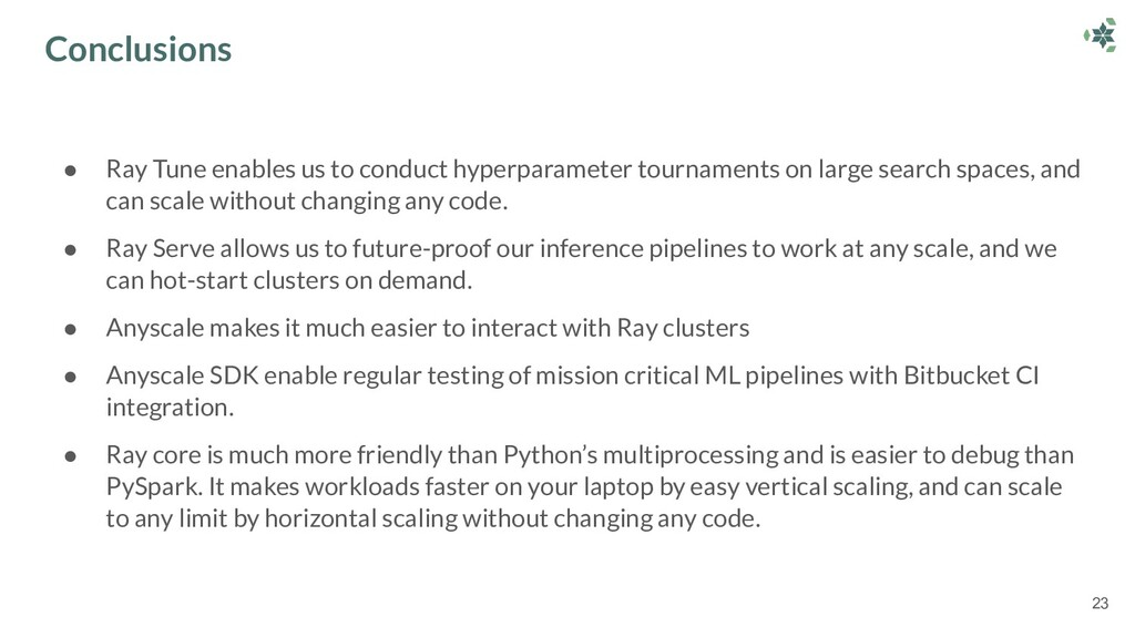 ● Ray Tune enables us to conduct hyperparameter...