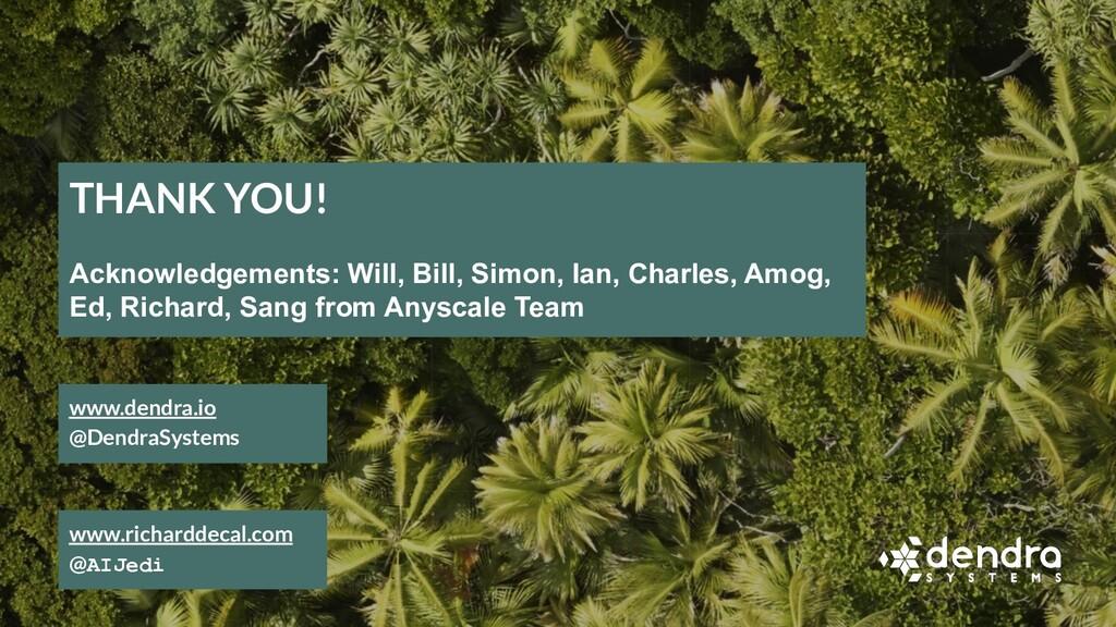 www.dendra.io @DendraSystems THANK YOU! Acknowl...