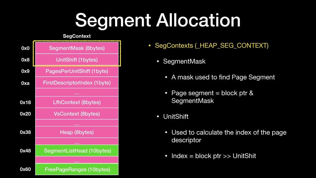 • SegContexts (_HEAP_SEG_CONTEXT)  • SegmentMas...