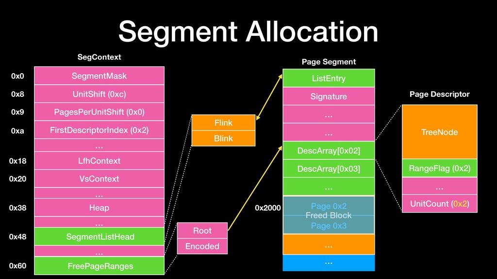 Segment Allocation 0x0 0x8 0x9 0xa 0x18 0x38 0x...