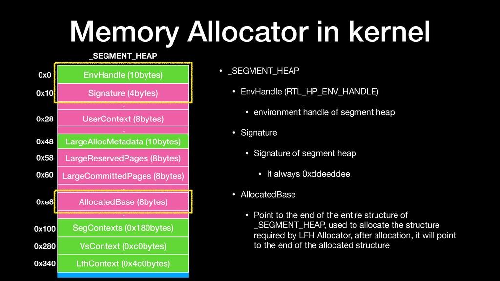 Memory Allocator in kernel • _SEGMENT_HEAP  • E...