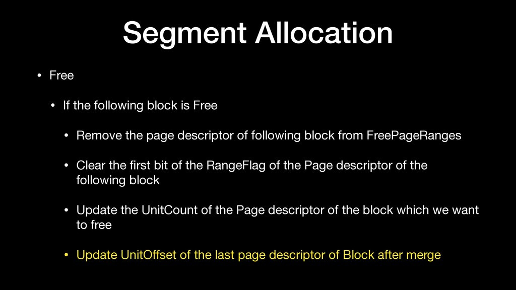 Segment Allocation • Free  • If the following b...