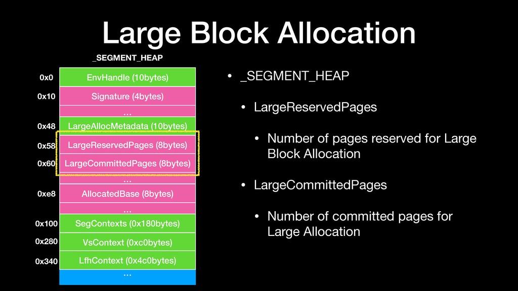 Large Block Allocation • _SEGMENT_HEAP  • Large...