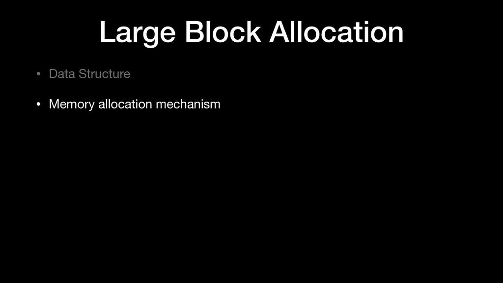 Large Block Allocation • Data Structure  • Memo...