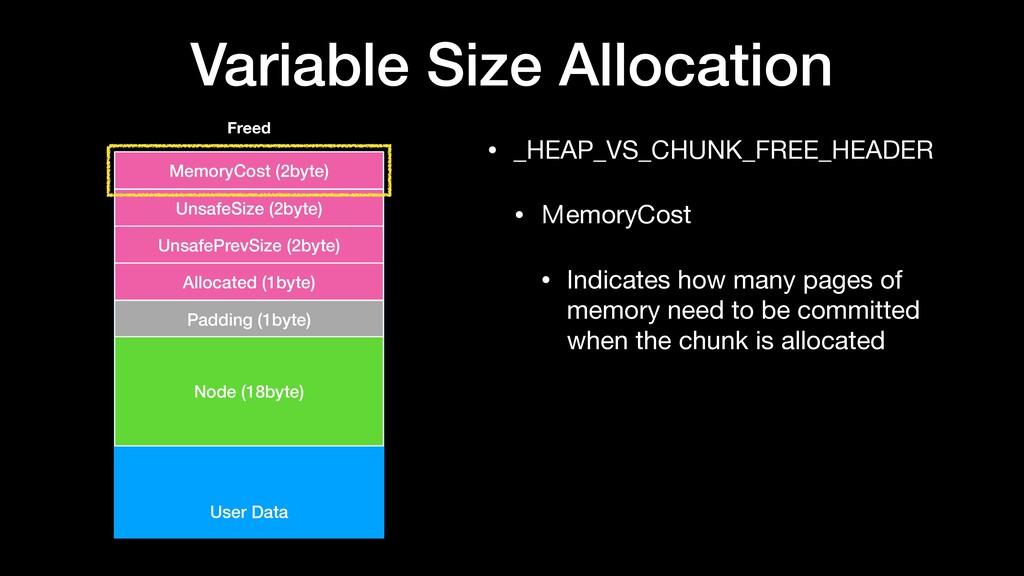Variable Size Allocation • _HEAP_VS_CHUNK_FREE_...