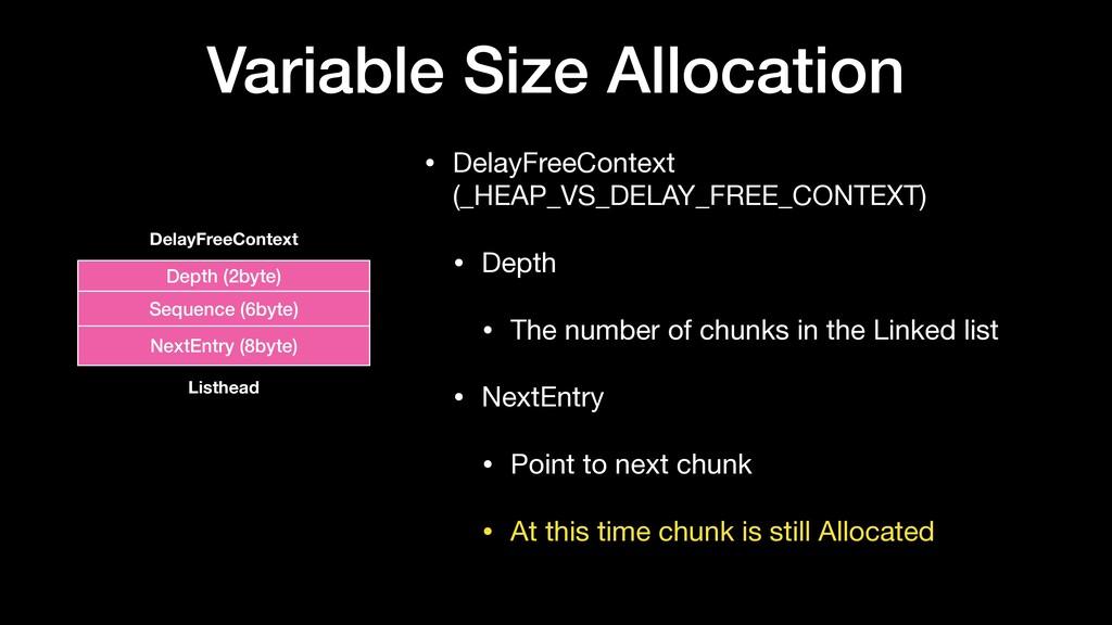 Variable Size Allocation • DelayFreeContext (_H...