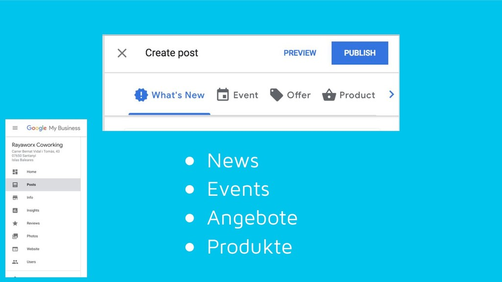 ●  News ●  Events ●  Angebote ●  Produkte