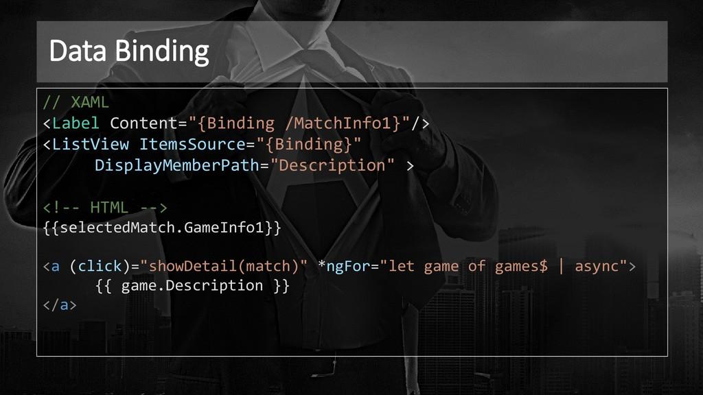 "Data Binding // XAML <Label Content=""{Binding /..."