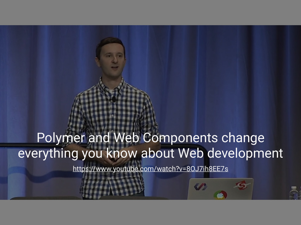 Polymer and Web Components change everything yo...
