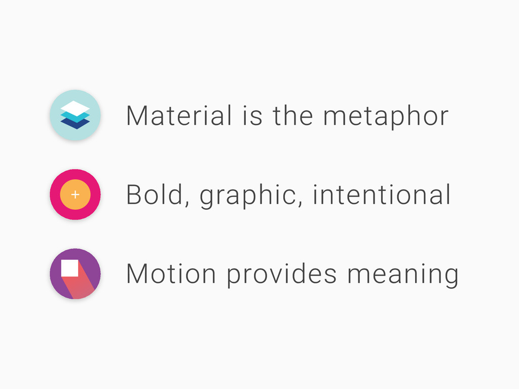 Material is the metaphor Bold, graphic, intenti...