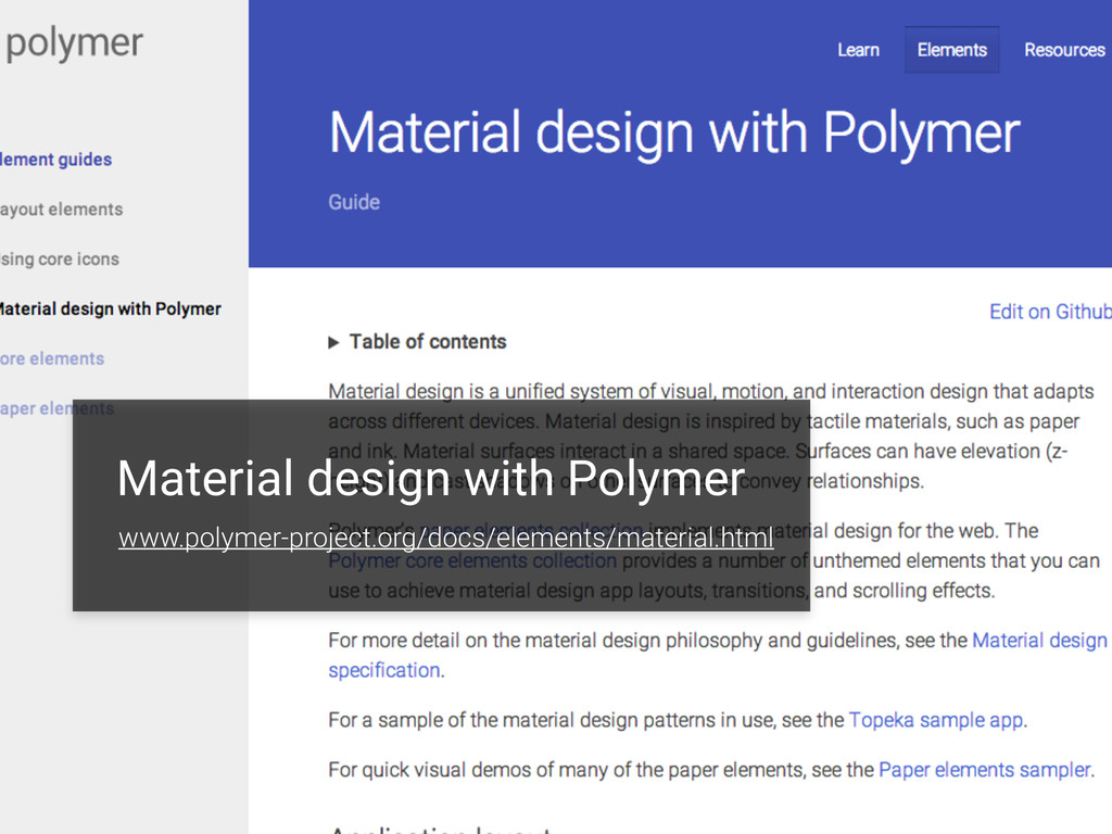 Material design with Polymer www.polymer-projec...