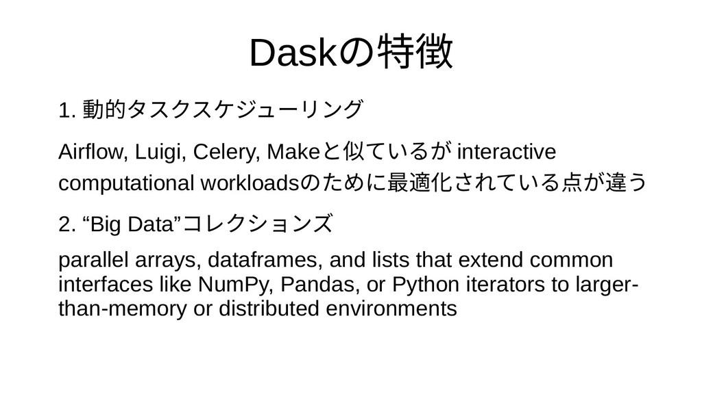 Daskの特徴 1. 動的として開発されタを最初に捨てるスクをプロスケジューリが飛んできやすン...