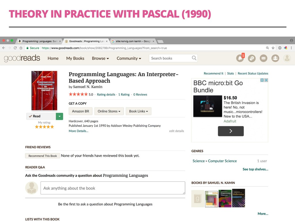THEORY IN PRACTICE WITH PASCAL (1990) 35