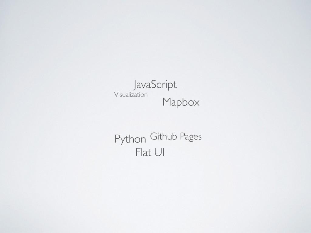 Mapbox JavaScript Python Github Pages Flat UI V...