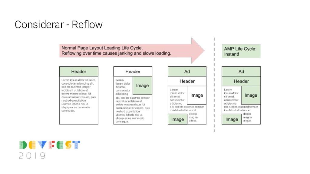 Considerar - Reflow