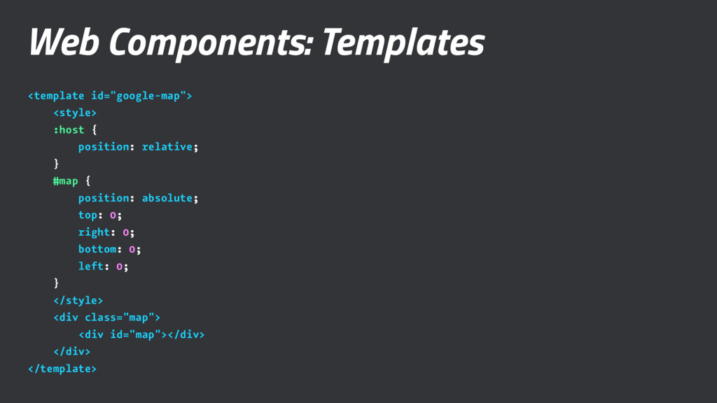 """Web Components: Templates <template id=""""google-..."""