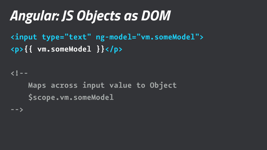 """Angular: JS Objects as DOM <input type=""""text"""" n..."""