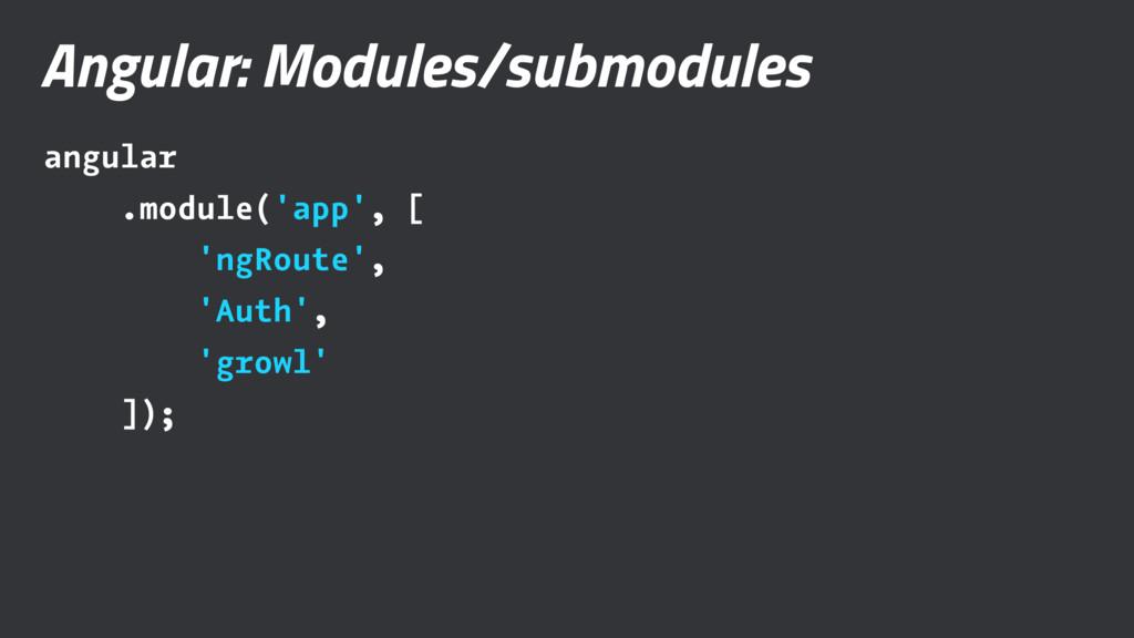 Angular: Modules/submodules angular .module('ap...