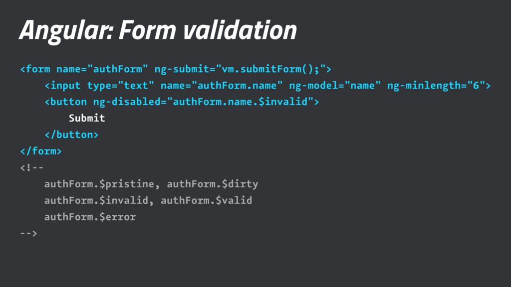 "Angular: Form validation <form name=""authForm"" ..."