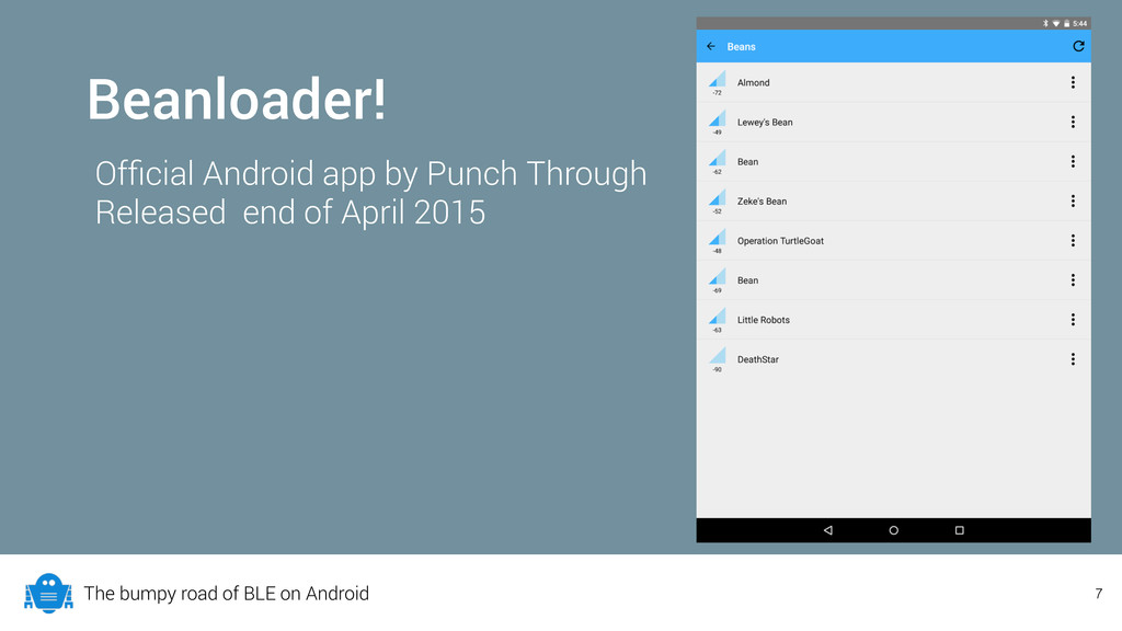 The bumpy road of BLE on Android Beanloader! Of...