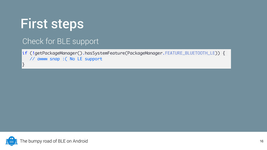 The bumpy road of BLE on Android 16 First steps...