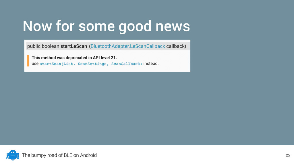 The bumpy road of BLE on Android Now for some g...