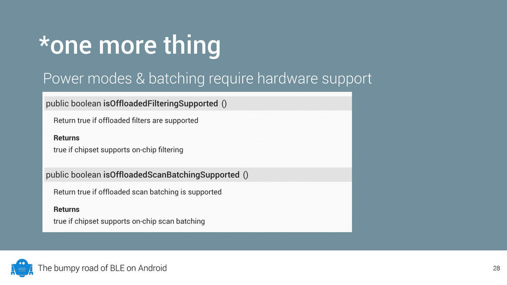 The bumpy road of BLE on Android *one more thin...