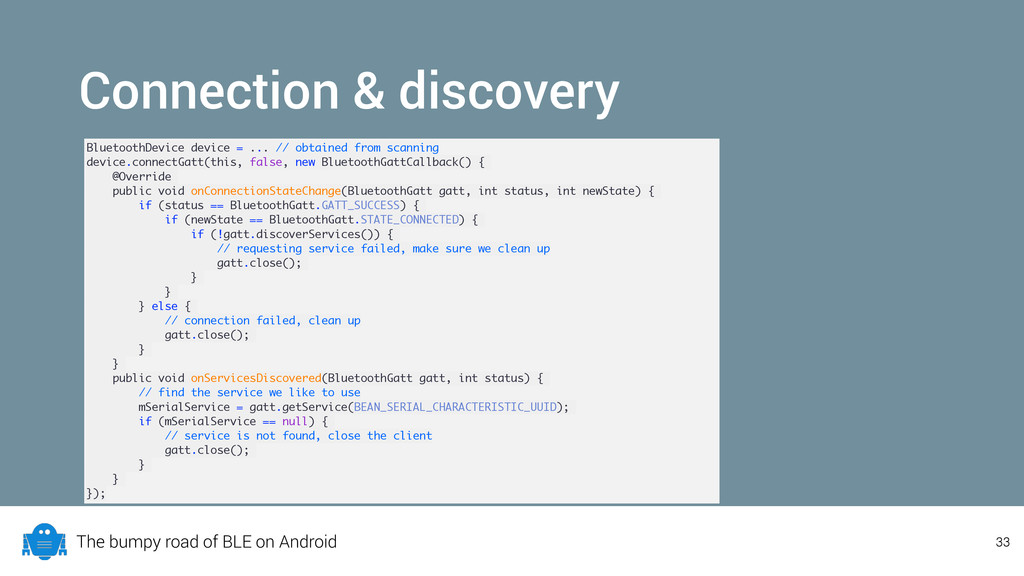 The bumpy road of BLE on Android Connection & d...