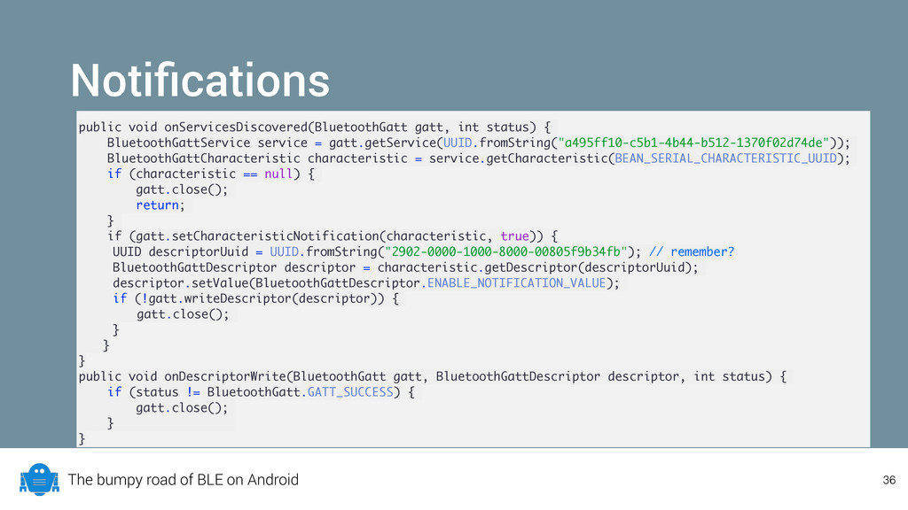 The bumpy road of BLE on Android Notifications p...