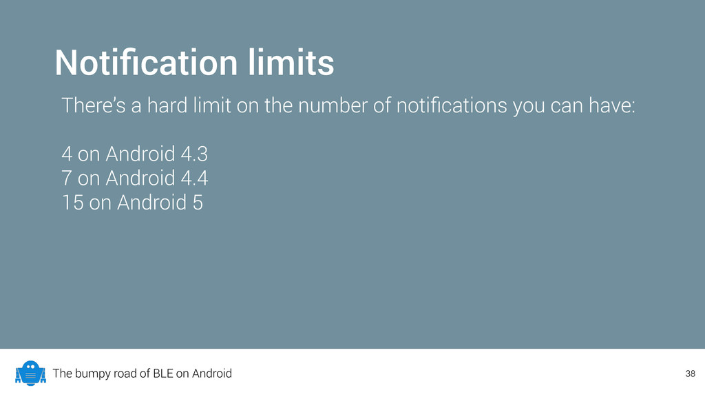The bumpy road of BLE on Android Notification li...