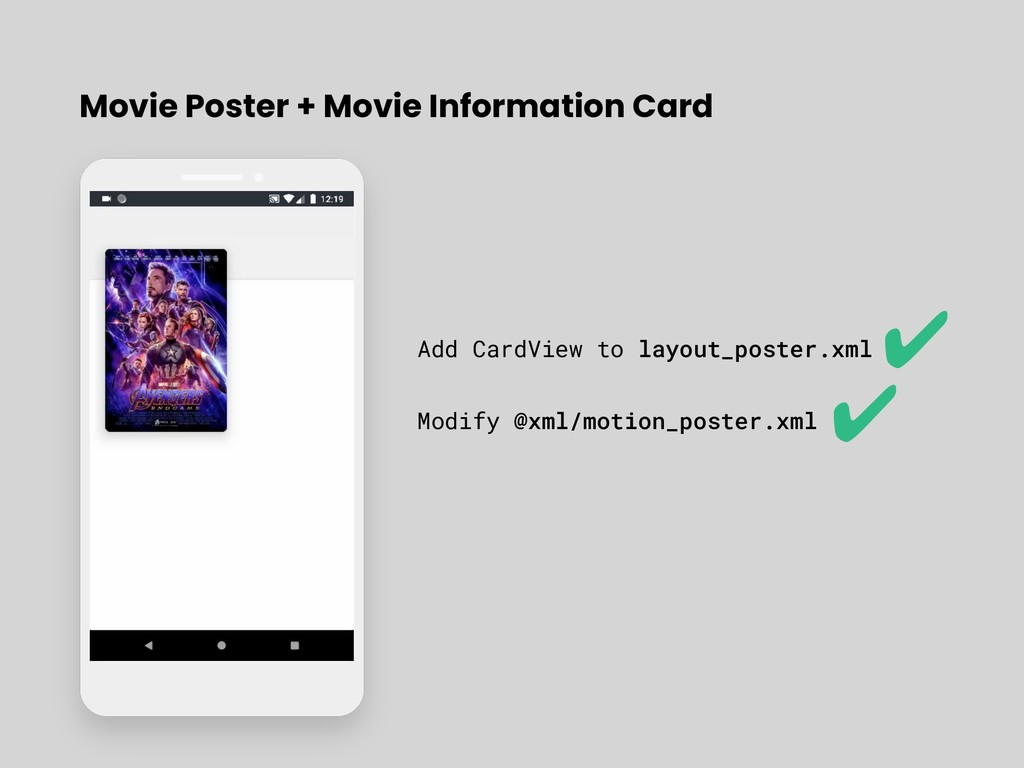 Movie Poster + Movie Information Card Add CardV...