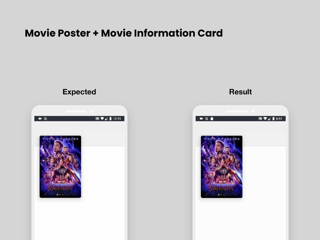 Movie Poster + Movie Information Card Expected ...