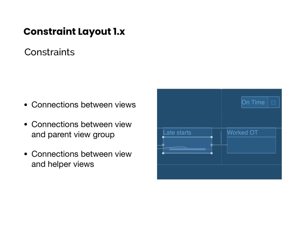 Constraint Layout 1.x • Connections between vie...