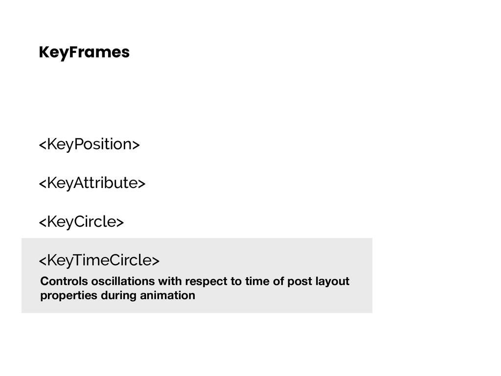 KeyFrames <KeyPosition> <KeyAttribute> <KeyCirc...