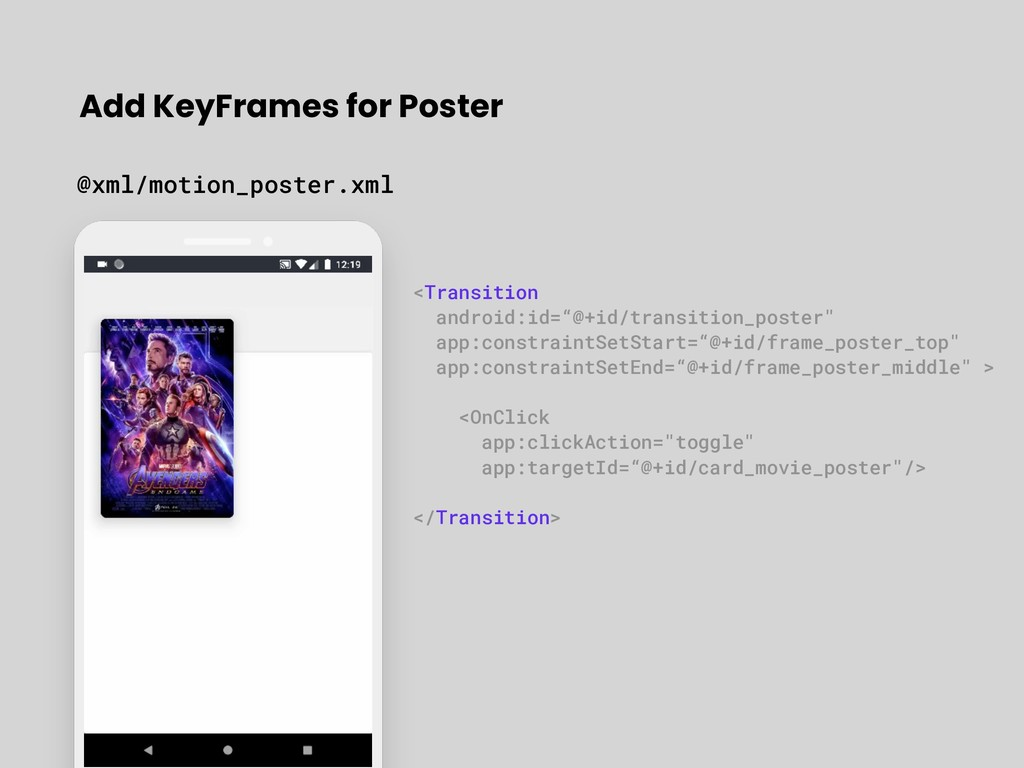 Add KeyFrames for Poster @xml/motion_poster.xml...