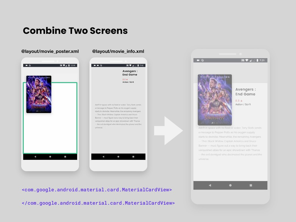Combine Two Screens <com.google.android.materia...