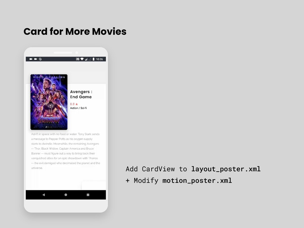 Card for More Movies Add CardView to layout_pos...