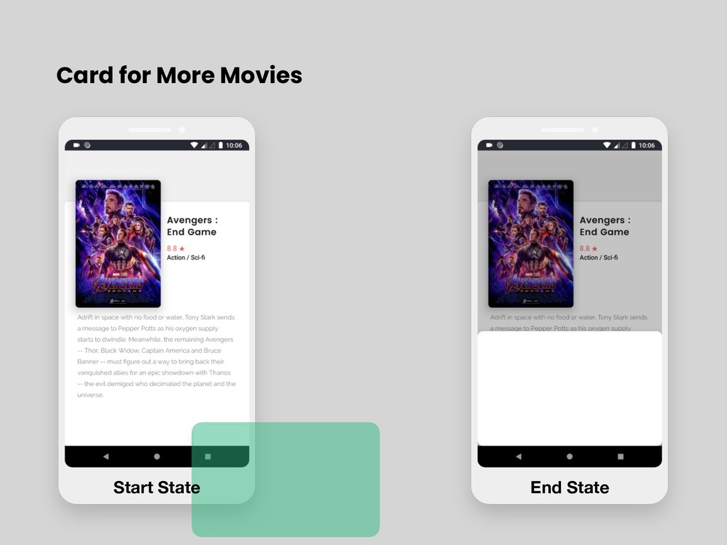 Card for More Movies Start State End State