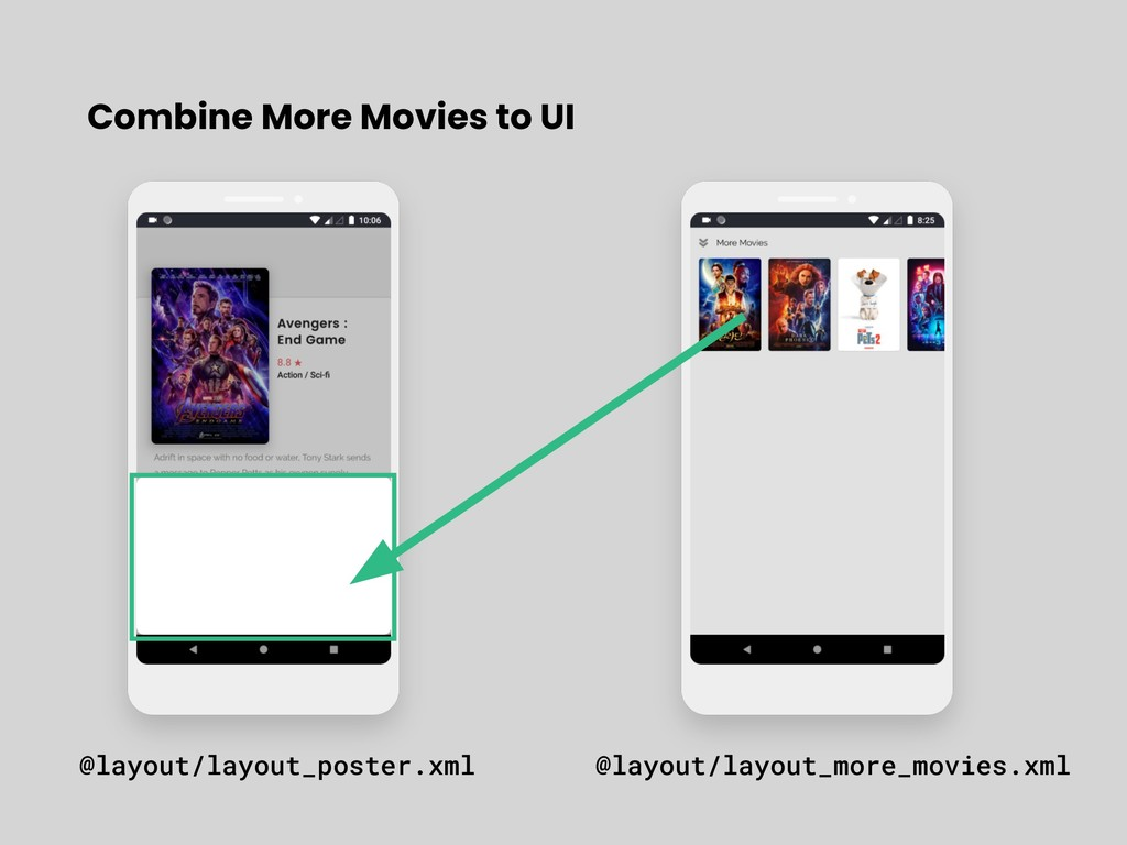 Combine More Movies to UI @layout/layout_poster...